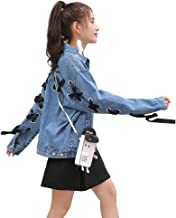 TSINY G Fashion Women Harajuku Casual Denim Jacket ( Color : Blue , Size : M )