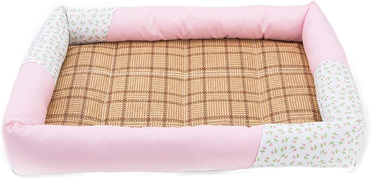 Pet Bed Four Seasons Universal Washable (color   Pink)
