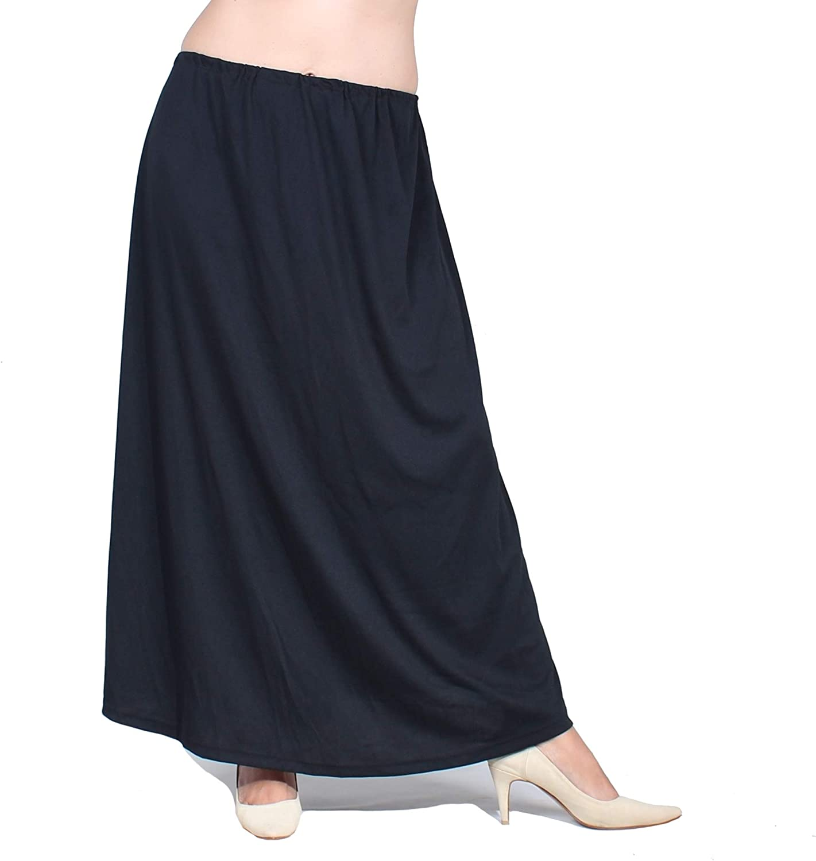 Women New product! New type Plus Size Direct sale of manufacturer Half Slip Flare 36 Underskirt Long Black inch Li