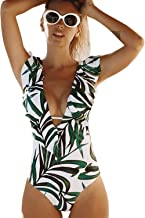 Best green and white one piece swimsuit Reviews