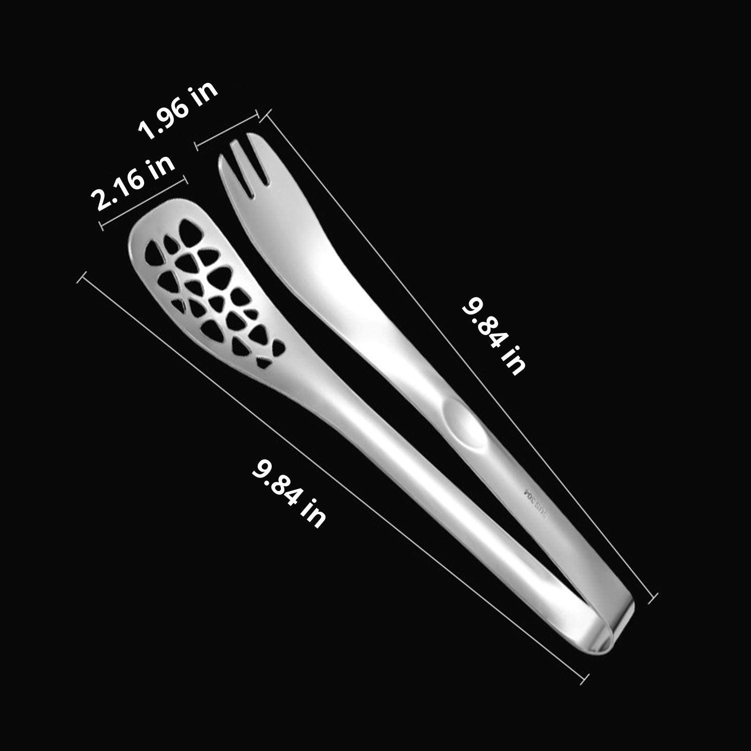 Multi-Purpose with Mesh Hole Clamp Tongs for Cooking Grilling Pastry BBQ Tongs Salad Tongs. Heat Resistant Locking Tongs Kitchen Tongs 10 Inch New Premium Heavy Duty Stainless Steel Tongs