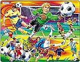 Larsen US22 Acción en el Campo de fútbol, Puzzle de Marco con 65 Piezas