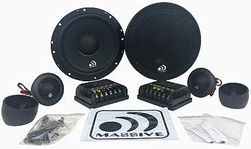 Massive Audio MK6A - 6 Inch - 6.5 Inch 300 Watts Max, 150w RMS, 4 Ohm, MK Series, 25mm Silk Swivel Tweeter, Car Audio Component Speakers (Pair)