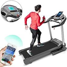 Bluefin Fitness Cinta de Correr Plegable de Alta-Velocidad Kick Silenciosa   20 Km/h + 7 HP + 15% de Inclinación   Consola Digital   App + Altavoces Bluetooth + Sensores de Frecuencia Cardíaca
