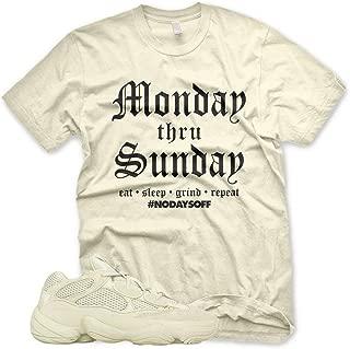 New Monday thru Sunday T Shirt for Adidas Yeezy 500 Super Moon Yellow Desert Rat
