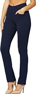 Premium Women's Stretch Dress Pants with Pockets - Wear to Work - Regular and Plus Size