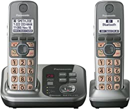 Panasonic KX-TG7732S DECT 6.0 Link-to-Cell via Bluetooth Cordless Phone with Answering System, Silver, 2 Handsets