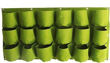 YKKJ 18 Pockets Greening Grow Bags Vertical Planting Bag Hanging Wall Pouch Gardening Planter Outdoor Indoor,for Garden Ve...