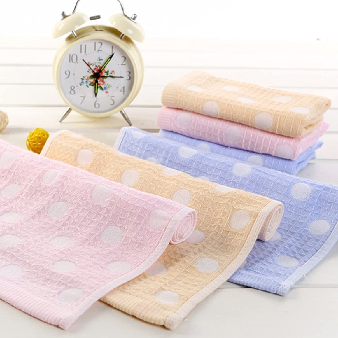 Lurrose 3pcs Beauty Face Towel Double Gauze Soft Towel Shower Wash Towel