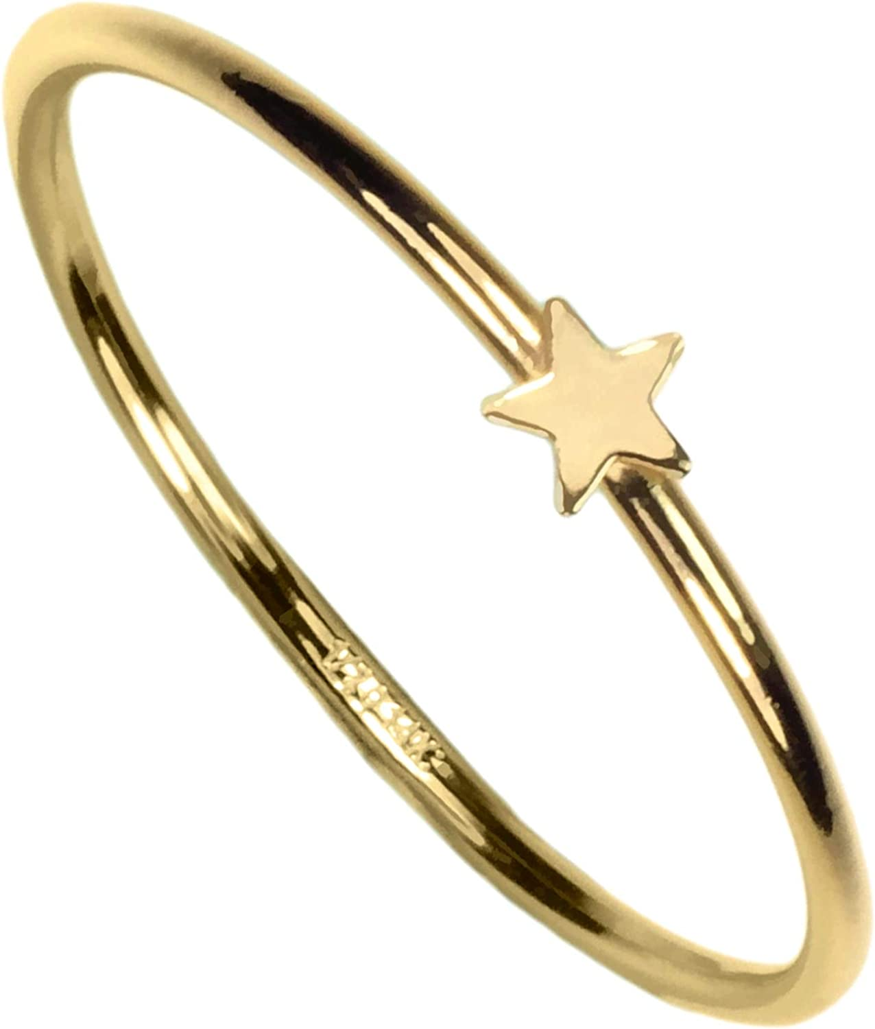 14kt Gold Fill Star Stacking Ring Size 8