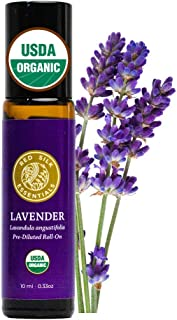 Red Silk Essentials USDA Organic Lavender Essential Oil Roll on, Lavandula Angustifolia, Pure Natural Aromatherapy for Sle...