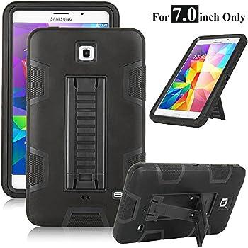 Galaxy Tab 4 7.0 Case, Magicsky 3in1 Heavy Duty Hybrid Shockproof Armor Kickstand Case for Samsung Galaxy Tab 4 7.0 T230 /T231/ T235 Galaxy Tab 4 Nook Cover - Black/Black