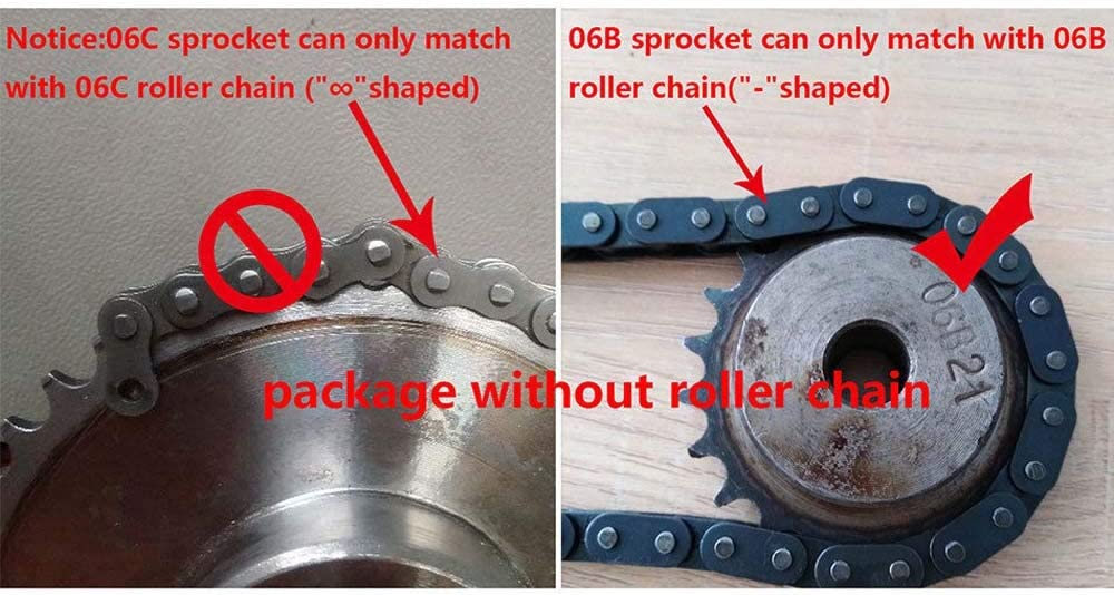 """3//8/"""" 06B  #35 Roller Chain Sprocket 17//18//19//20//21//22//23//24T Pitch 9.525mm"""