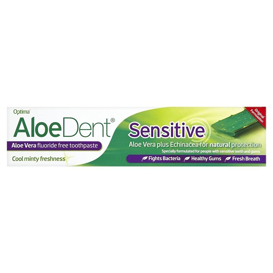 行動季節衰えるAloeDent 100 ml Sensitive Aloe Vera Fluoride Free Toothpaste by Aloe Dent