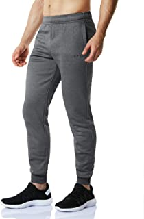 TSLA Fleece Tapered Pants Training Active Jogger Thermal Sweat Bottom
