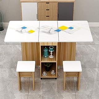 LiChaoWen Suite Junior Familiale 4 Personnes Table Pliante À Manger Simple Table À Manger De Table Table Pliante Rectangul...