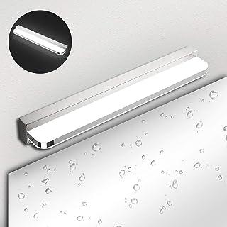 Lámpara de Espejo Baño LED IP44 Ketom 9W 600LM Aplique Espejo LED Blanca Neutra 4000K Lampara Espejo LED Bano, Lámpara de Pared Espejo de Acero Inoxidable Para Maquillaje, Espejo, Baño, 42cm