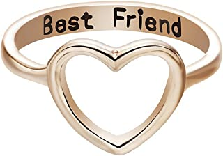 Clearance Letter Rings, Fashion Charm Simple Elegant Diamond Jewelry Heart Rings Gift for Mum Dad Friends ODGear