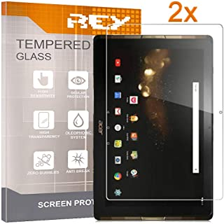 REY 2X Protector de Pantalla para Acer ICONIA Tab 10 A3-A40 (10,1 Pulgadas), Cristal Vidrio Templado Premium, Táblet