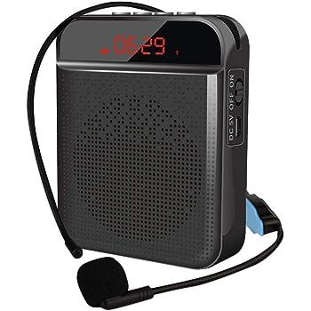 [actualizado] Amplificador de voz portátil, Blutooth Cintura Amplificador de voz Altavoz Recargable con Micrófono Personal, para guía de viaje, profesores, entrenadores, presentaciones, disfraces