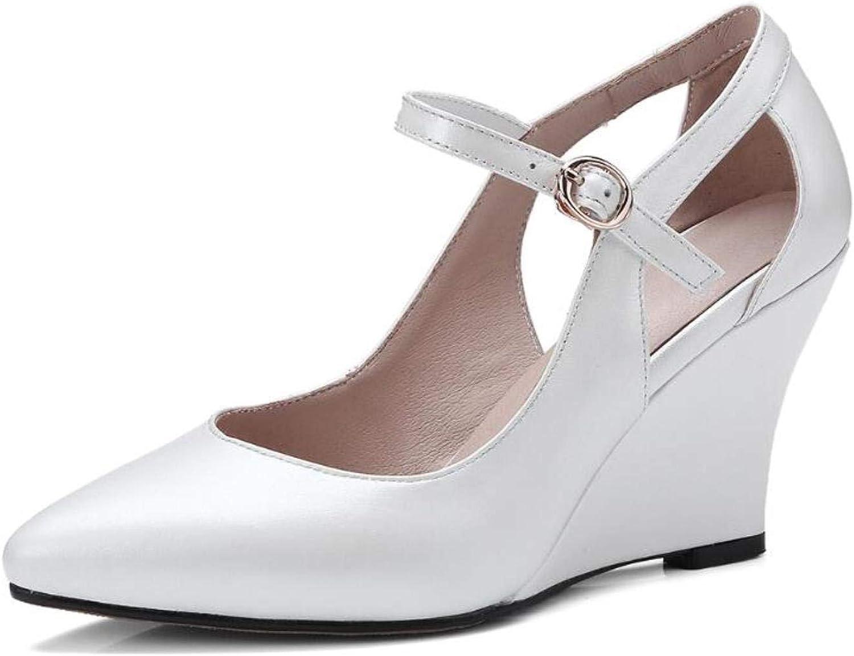 Genuine läder Buckle Strap Point Point Point Toe High klackar 9cm kvinnor skor  erbjuder butik