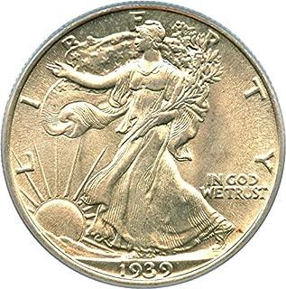 1939 P Walking Liberty Halves Half Dollar MS64 PCGS
