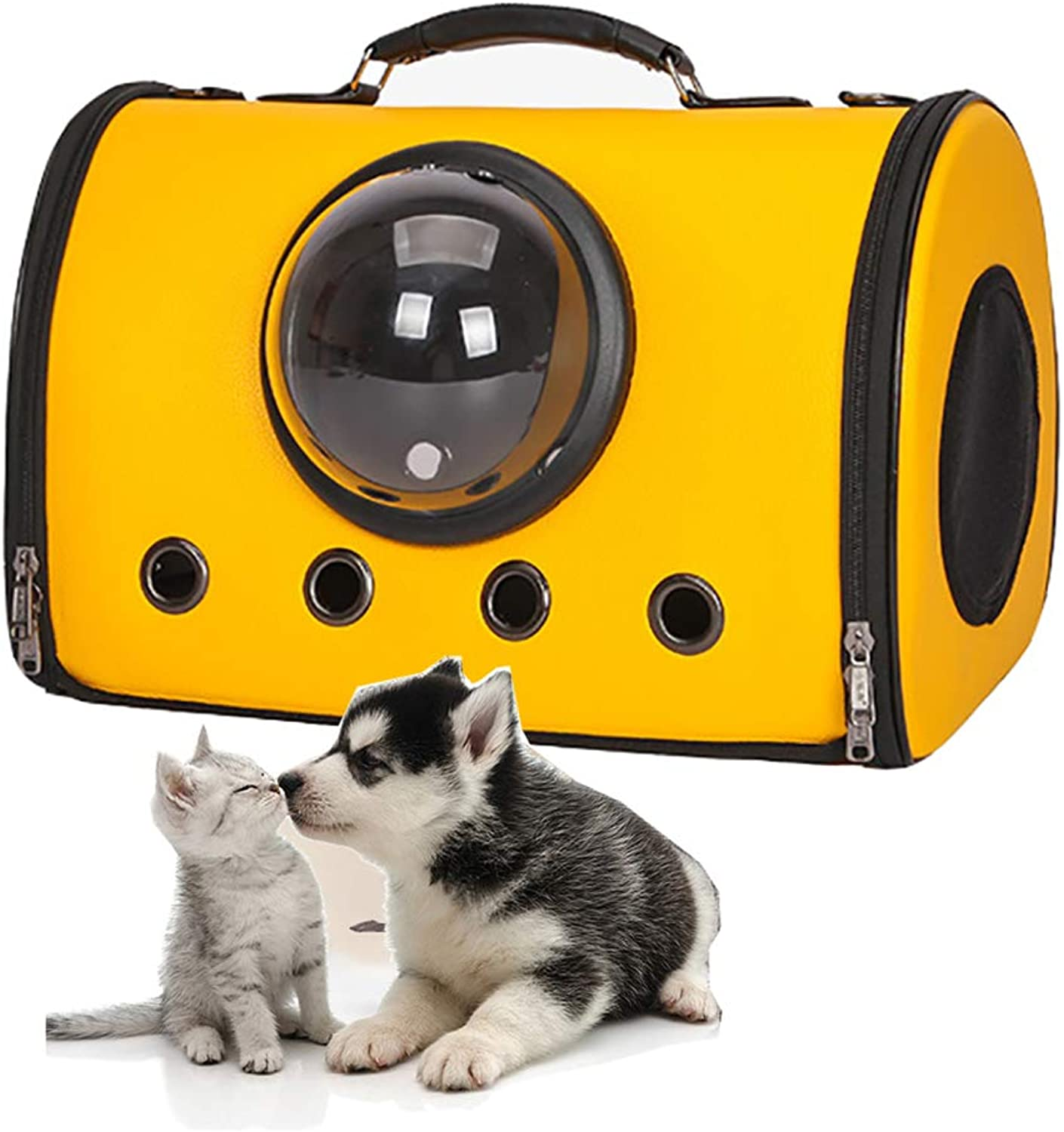 Bubble SoftSide Cat Carrier, Airline Approved pet Purse, Airplane and car Travel Dog Carriers