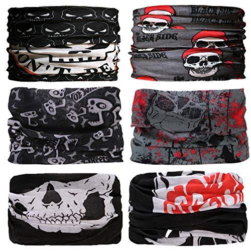 Sea Team 6 Stück/Packung gedruckt Bandanas Multifunktionstuch, 12 Arten Wahl Kopftuch, Stirnband, Motorrad Bandana, Kopftuch ect (D-3)