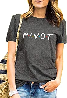 Friends Shirt Womens Pivot Funny Cute Short Sleeve T Shirts Graphic Tee Tops