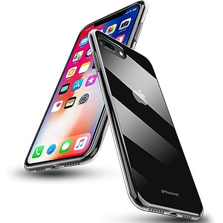 iPhone 7 plus ケース iPhone 8 plus ケースクリア 透明 薄型 米軍MIL規格 耐衝撃 透明カバー 衝撃吸収 iPhone 7 plus カバー 対応 TPU 全面 ソフト 薄型 シリコン 超軽量 一体型 カメラ保護 ワイヤレス充電対応 超軽量 バンパー iPhone 8 plus カバー 傷防止 指紋防止 黄ばみ防止 クリア WK-IPYJ-1-03