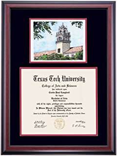 texas tech diploma frame