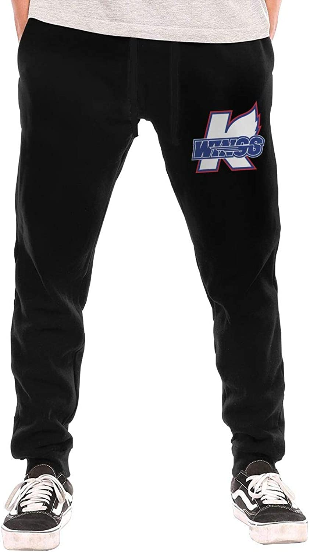 BarWords Men's Casual Sweatpants KalamazooWingsLogoHockey Jogger Pants Gym Workout Running Sportswear Trousers