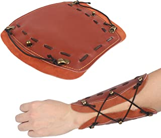 Kratarc Archery Suede Leather Arm Guard For Hunting Shooting Bow