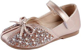 Niños Niñas Lentejuelas Diamantes de imitación Princesa Zapatos Zapatos Ballet Planos Vestir para Niña