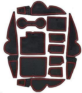 ALLYARD F/ür CX-3 Antirutschmatten Innent/ür Gummi Matte Innent/ür-Schalen-Matten Becherhalter Slot Pad Cup Mats Anti-Staub 13 St/ück Rot
