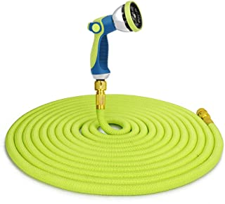 JonesHouseDeco 150ft Expandable Garden Hose Pipe with 10 Function Spray Gun ½ and ¾ Water Hose 3 Times Expanding Flexible ...