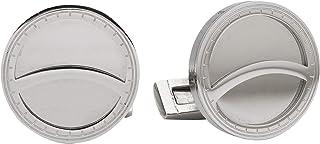 Diamond Moon Stainless Steel Cufflinks for Men, Stainless Steel - 1800541240419
