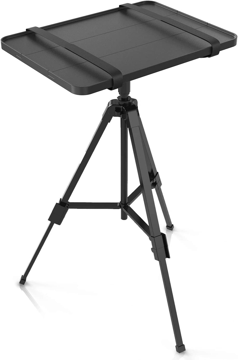 WALI Lightweight Projector and Laptop Tripod Stand Portable DJ Equipment Holder Mount Height adjustable 18 to 35 Inch Foldable Stand for Office, Home, Stage or Studio (PRS001), Black
