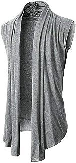 [アンリ] ノースリーブカーディガン ロング ショール 袖なし 羽織りもの 重ね着 夏 夏物 カジュアル メンズ