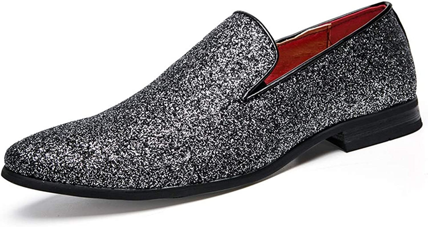 Men's Casual Flat Loafers Fashion Slip On Driving shoes, Pointed Shallow Mouth Business shoes, Lazy shoes,Occupation, Offic (color   B, Size   38)