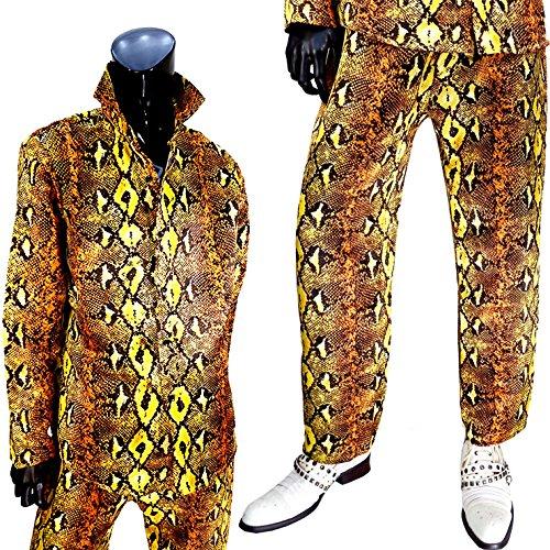 『[即納]ピコ太郎 なりきり上下セット 3点セットヒョウ柄 ヘビ柄 シャツ パンツ ストール』の2枚目の画像