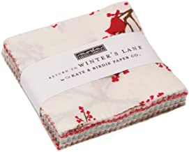 Return to Winter's Lane Mini Charm Pack by Kate & Birdie; 42-2.5 inch Precut Fabric Quilt Squares