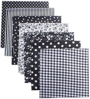 "Quilting Fabric,Cotton Fabric Bundles 7pcs 20""x20"" Fabric Bundles Squares Sewing Patchwork Different Pattern Cloths DIY Sc..."