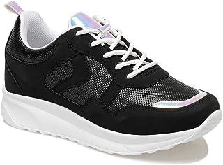 CS20054 Siyah Kadın Spor Ayakkabı