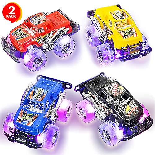 ArtCreativity Light Up Monster Truck Set for Boys and Girls Set Includes 2, 6...
