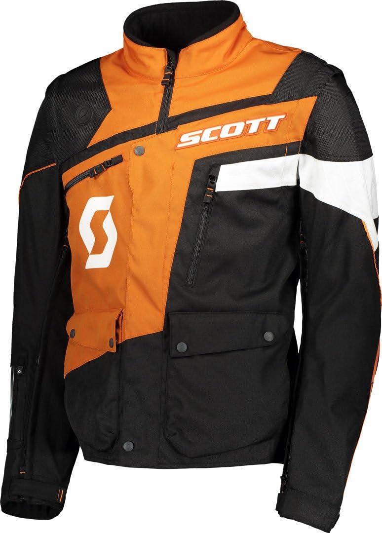 50//52 L Gr/ö/ße Scott 350 ADV Motorrad Jacke schwarz//orange 2019