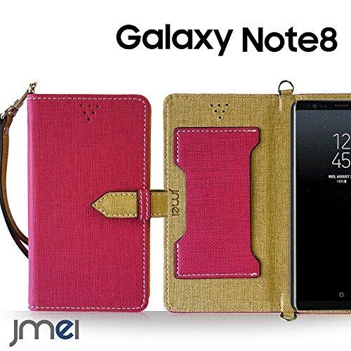 Galaxy Note 8 ケース手帳型 ギャラクシー ノート 8 カバー ブランド 手帳 閉じたまま通話ケース VESTA ホットピンク Samsung サムスン SC-01K SCV37 simフリー スマホ カバー 携帯ケース 手帳型 スマホケース