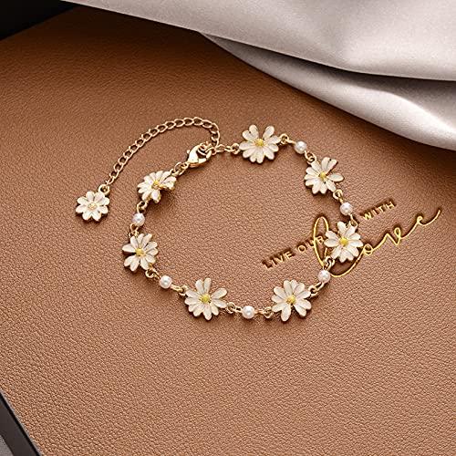 Pequeña pulsera de mujer fresca girasol pequeña margarita simple joyería de verano