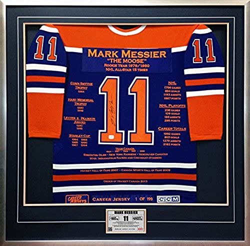 Generic Mark Messier voiturerière Jersey   1de 199 autographe Edmonton Oilers