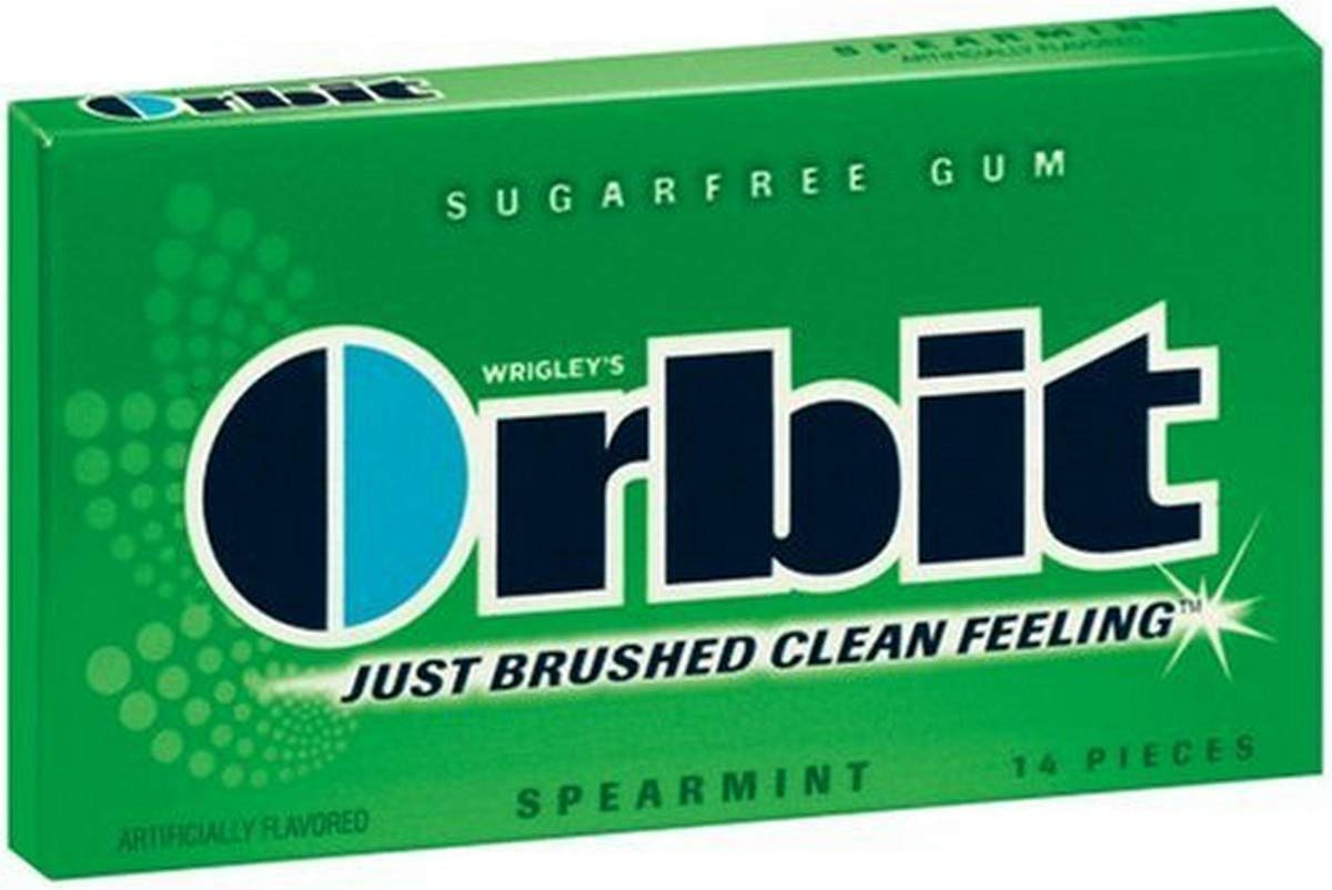 Orbit Sugarfree Super beauty product restock quality top! Gum Spearmint 14-Piece Pack Packs At the price 24 of